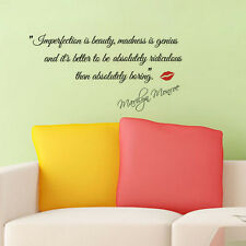 Impersonation Beauty Wall Stickers Quotes MARILYN MONROE Love Wall Decal Decors