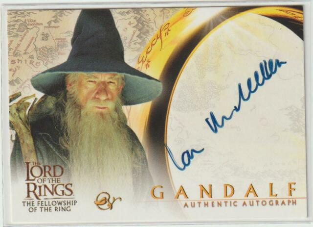 LORD OF THE RINGS FOTR AUTOGRAPH AUTO CARD IAN MCKELLEN SIGNED GANDALF LOTR