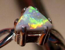 Pink Floyd Ring - Gem Semi Black Opal Ring Sterling Silver Size 7 1/4 or O