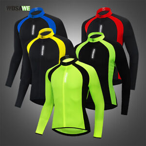 WOSAWE-Mens-New-Cycling-Jerseys-Long-Sleeve-Quick-Dry-MTB-Team-Bike-Riding-Tops