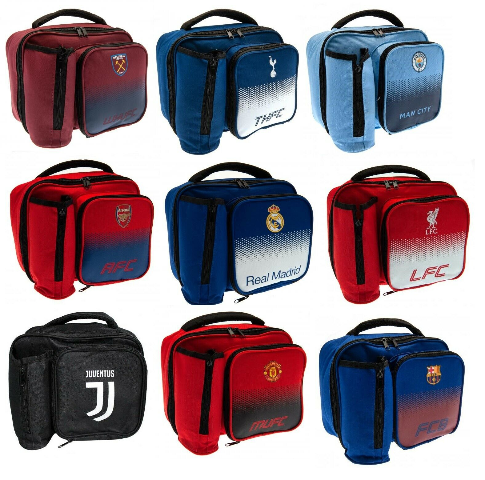 Official Licensed Product Manchester United FC Fade Lunch Bag 2 Compartment Gift