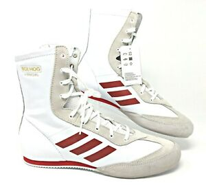 Adidas-Box-Hog-X-Special-Men-039-s-Boxing-Shoes-White-Red-SZ-AC7148