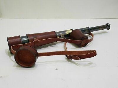 Maritime Telescopes Nautical Brass Handmade Vintage Telescope With Leather Cap Belt Spyglass Wrapped Maritime
