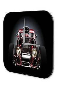 Purposeful Orologio Parete D'epoca Auto Decorazione Roadster Acrylglas A Plastic Case Is Compartmentalized For Safe Storage Wall Clocks