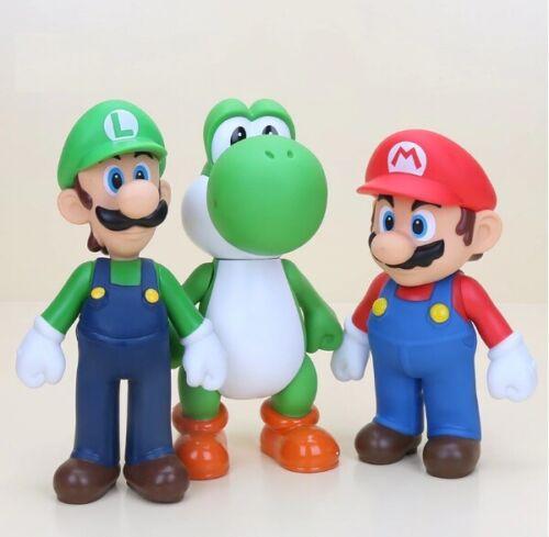 New Big Size 25 cm 9.5 in Mario,Yoshi,Luigi PVC Action Figure Toy Model