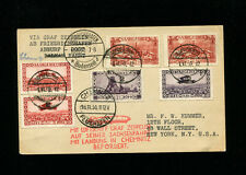 Zeppelin Sieger 100 1930 Chemnitz Germany Flight Saar Treaty dispatch