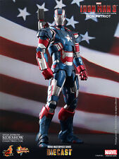 Marvel Iron Patriot Sixth Scale die cast Figure by Hot Toys Ironman 3 1/6