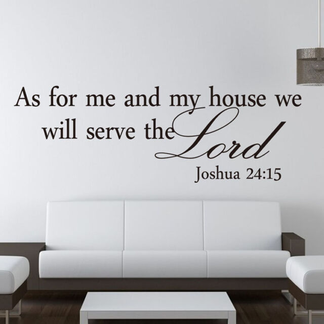 Christian As for me and my house we will serve the Lord English Wall Stickers