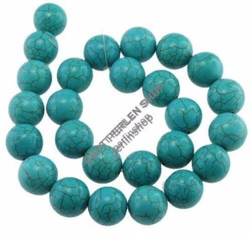 Turquoise Perles Gemme Semi BOULES 18 mm POUR BIJOUX Chaîne Best g1114