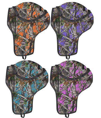 Showman REAL OAK CAMO Western SADDLE CARRIER Nylon Full Zipper & Shoulder Strap
