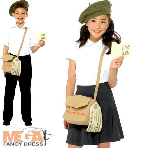 Wartime Kit instantanée Kids Fancy Dress histoire Bretagne 30 S 40 S enfant Costume Set