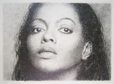 "KENT TWITCHELL Signed 1997 Original Drawing - ""Diana Ross"""