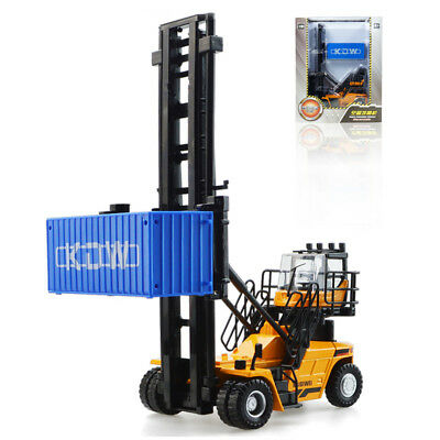 KAIDIWEI 1:50 Scale Diecast Empty Container Stacker Forklift Truck Model Toys
