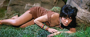 1960's THE LOST WORLD Vitina Marcus native girl laying low color 4x10 scene
