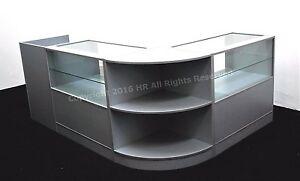 Grey-Glass-Shop-counters-Metallica-FREE-DELIVERY-TOP-QUALITY-4-UNITS