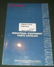 Toyota 7fbeu15 7fbeu18 7fbeu20 7fbehu18 Forklift Truck Parts Manual Book Catalog