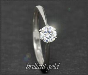 Diamant-Brillant-585-Gold-Ring-mit-0-52ct-River-E-Si2-14K-Weissgold-Damenring