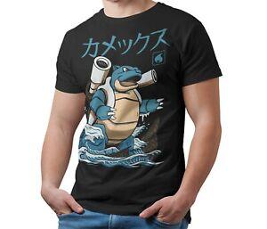Blastoise-Pokemon-Kaiju-T-Shirt-Japanese-Monster-Unofficial-T-Shirt-Adult-amp-Kids