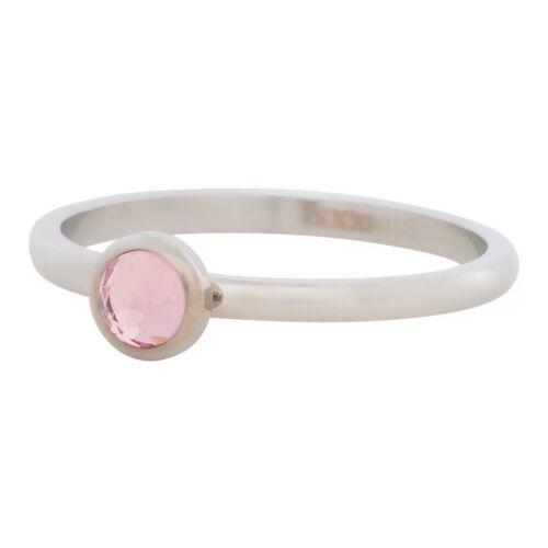 2 mm iXXXi Füllring 1 Kristall rosa Ø 6 mm silber