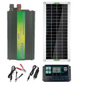 New-Complete-Solar-Panel-Kit-Charger-1000W-Inverter-Controller-Battery-Generator