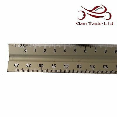 "300mm 12/"" Aluminium Triangula Scale Ruler Engineers Architects Technical Drawing"