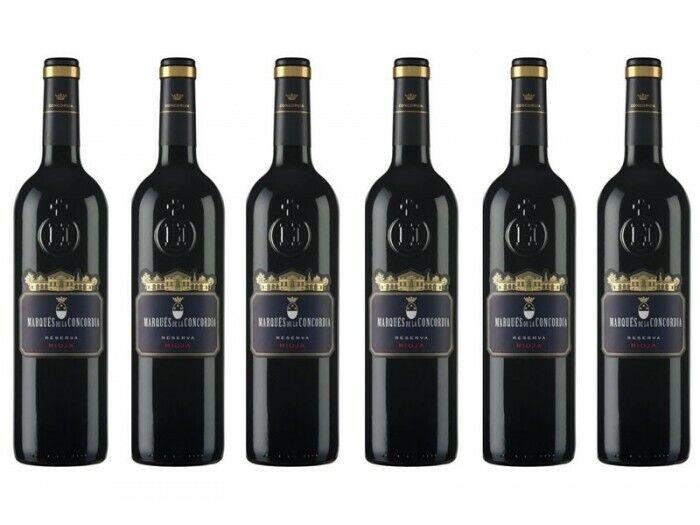 s l1600 - Pack de 6 Vino Marqués de la Concordia Reserva 2008 Tinto 75 Cl.