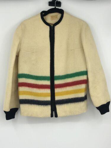 Vintage Authentic Wool Hooded Stripe Hudson Bay Po