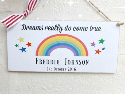 Baby plaque hanging sign souvenir cadeau personnalisé