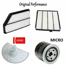 Tune Up Kit Cabin Air Oil Fuel Pre-Pump Filters for Acura MDX 3.5L 2002