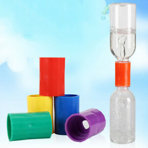 4pcs tornado vortex bottle water connector science cyclone tube experiment In BS
