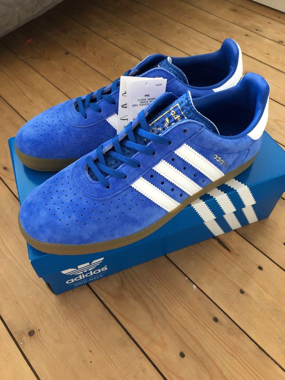 Adidas 350 shoes Originals UK9.5 9 1 2 BY1862 blueebird Suede White Gum Sole Og