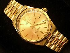 Mens Rolex Solid 14K Yellow Gold Oyster Perpetual w/ President Style Band 1005