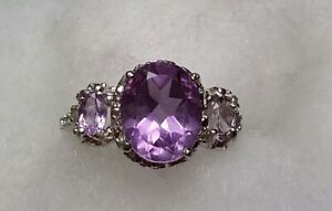 Sparkling-3-5-ctw-natural-amethyst-3-stone-ring-size-6