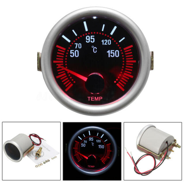 Car Auto 2 52mm Universal Digital Led Pointer Oil Temp Temperature Gauge Meter