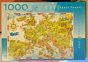 Jigsaw-Puzzles-1000-Pieces-Crazy-Europe-Gerold-Como-King-Toys-amp-Games