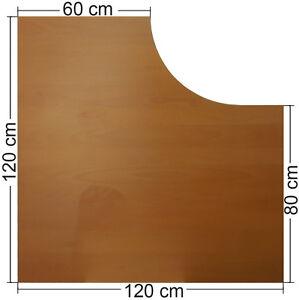 Tischplatte ikea buche  IKEA Effektiv Tischplatte in Buche, dunkel 120x120x60x80cm, L Form ...