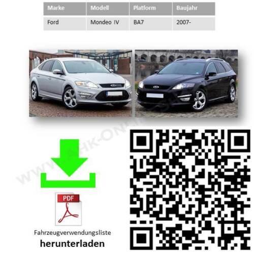AHK E-Satz 7 polig Ford Mondeo IV Bj 2007-2014 Schrägheck Anhängerkupplung