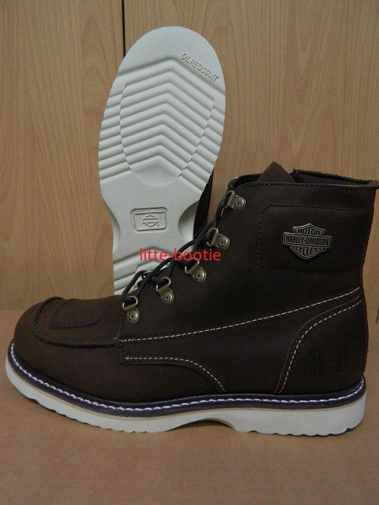 Harley-Davidson botas señores cuero 97021 Hagerman marrón Riding botas