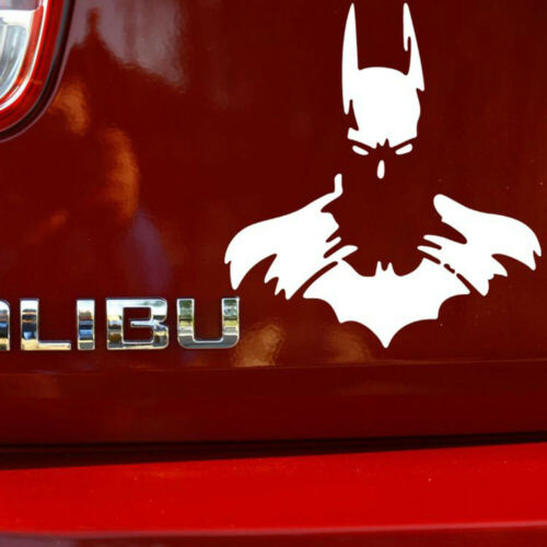 1pc White Batman Superhero Car Sticker Window Laptop Wall Room PET Bumper Decal