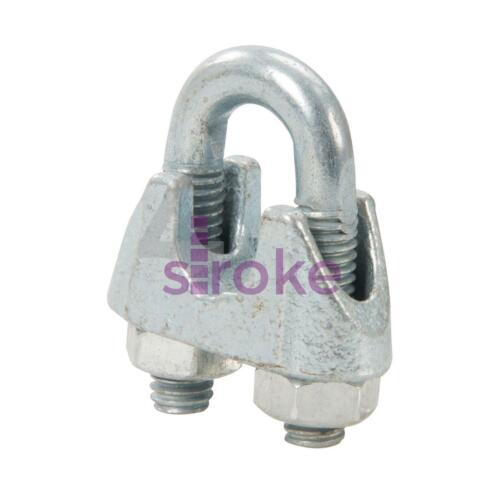 Wire Rope Grips Clamps M6 U Bolts Fitting Cable Cord Tie Heavy Duty Steel Metal