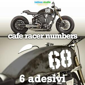 Numeri-adesivi-serbatoio-moto-Cafe-Racer-Bobber-Scrambler-stickers-pegatinas