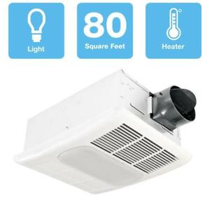 Ceiling 80 CFM Exhaust Bathroom Fan W/ Dimmable LED ...