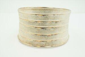 Milor-Sterling-Silver-925-Brushed-Cuff-Bracelet-Italy-7-5-034