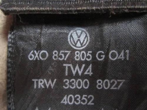Ceinture de sécurité arrière gauche vw Lupo 6x0857805g o41 CEINTURE NOIR