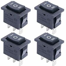 4pcs On Off On Spdt Square Momentary Rocker Switch 3 Pin Position 6a Mini