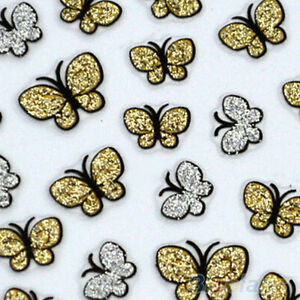 2X-Attractive-Butterfly-Nail-Art-Stickers-Decals-Nail-Tips-Decor-Manicure-JFAU