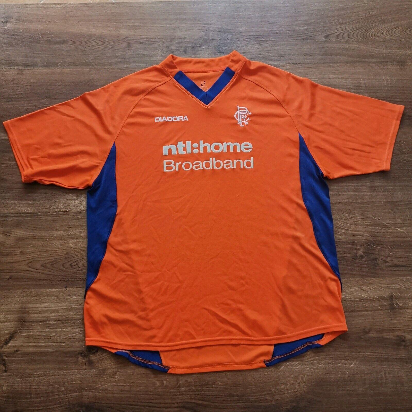 Diadora vintage FC RANGERS AWAY FOOTBALL SHIRT 20022003 soccer jersey mailot Tr