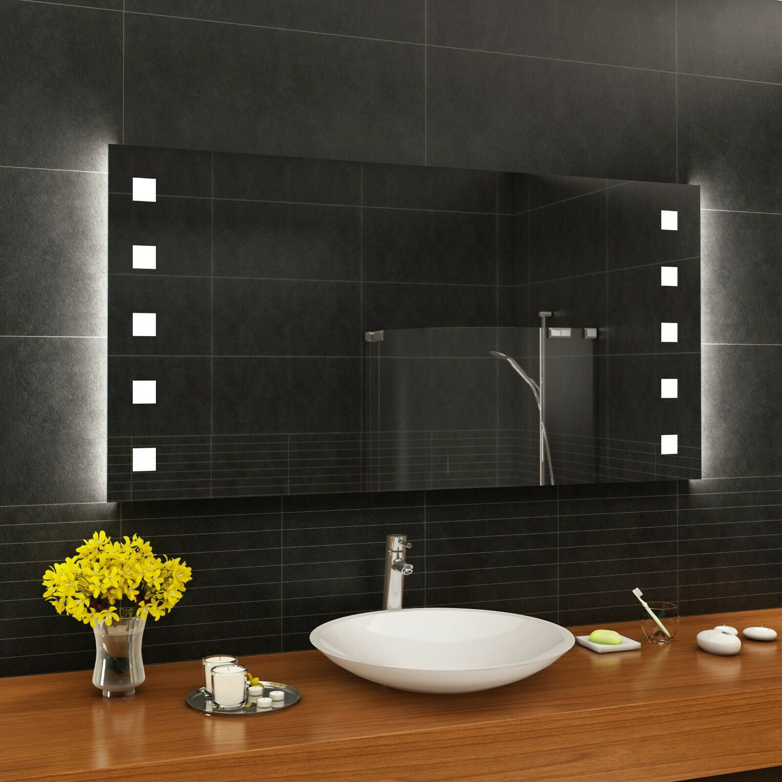 mit Badspiegel M04 Maß nach Wandspiegel Badezimmerspiegel ...