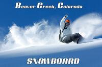 Snowboard Beaver Creek Colorado Ski Winter Sport Vintage Poster Repro Free S/h