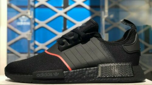 adidas NMD R1 Core Black Solar Red Carbon BRED Brand New EE5085 Multi Sizes